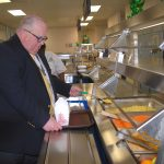 WCPS Chief Operating Officer Steve Price checks out the new Asian offerings on Tuesday. Photo by Bethany Hooper