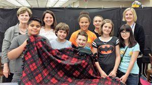 Builders Club Of Berlin Intermediate School Makes 25 Blankets To Donate To Diakonia