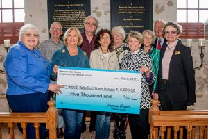 Daughters Of American Colonists Present $5,000 Check To Historic St. Martin's Church Foundation