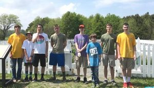 Boy Scout Troop 261 Paints Colonial Kitchen Garden Fence At Historic Rackliffe House