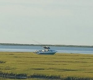Vessel Runs Aground In Marsh, Leading To Search Effort
