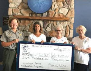 Marlin Club Crew Of OC Present Check To Assateague Island Education Program
