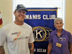 Kiwanis Club Of Greater Ocean City-Ocean Pines Makes Donation To Achilles Foundation Of Marland
