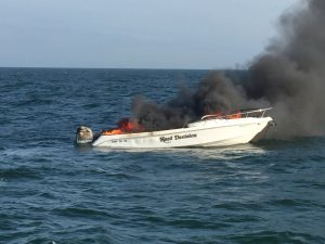 Seven Rescued After Boat Catches Fire