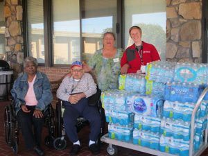 Staff And Residents From Berlin Nursing And Rehabilitation Center Donate Water To American Red Cross