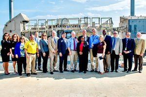 Senators Tour Wallops With Area Officials