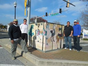 Local Artists Paint Downtown Ocean City Utility Boxes