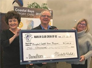 Marlin Club Crew Of OC Donates $1,000 To Maryland Coastal Bays Program