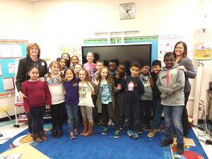Junior Achievement Class Held At Buckingham Elementary School