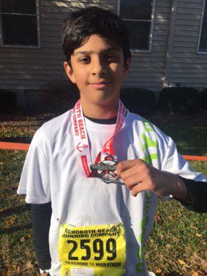 Decatur Middle Student Runs Half Marathon