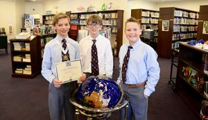 Myers Wins First Place At Annual Worcester Prep Geography Bee
