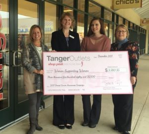 Tanger Outlets Donates $3,580.35 To Women Supporting Women