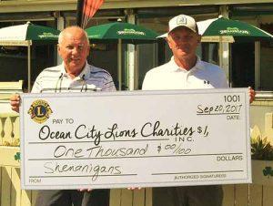 Shenanigan's Irish Pub Presents OC Lions With $1,000 Check