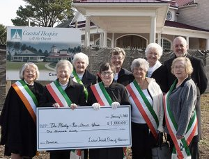 Ladies Ancient Order Of Hibernians Donates $1,000 To Macky & Pam Stansell House Of Coastal Hospice At The Ocean