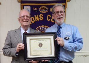 "Ocean City Lions Club Presents Courtesy Chevrolet-Cadillac With ""The Pride Award"""