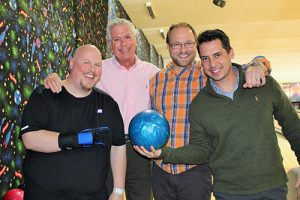 """Coldwell Banker Bowlers"" Wins First Place In Coastal Association Of Realtors' Bowling For Business Cards Event"