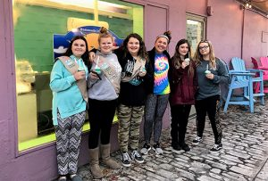 Girls Scout Troop 835 Assists Island Creamery Making Thin Mint Ice Cream