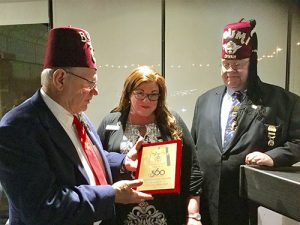 Shrine Club Presents Plaque To OC360 For It's Support Of OC Shriners