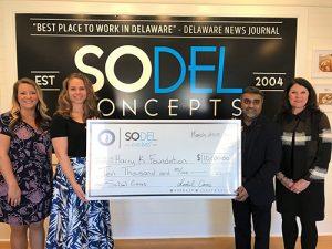 SoDel Cares Donates $10,000 To Harry K. Foundation