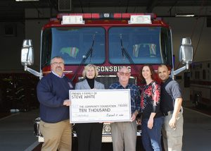 Past Fire Chief White Of Parsonsburg Volunteer Fire Company Honored With Memorial Scholarship In His Name