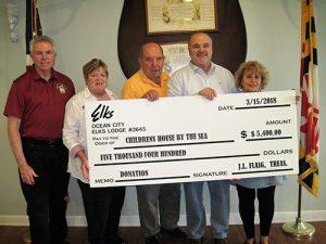 "Ocean City Elks Lodge Donates $5,400 To ""Believe In Tomorrow"""