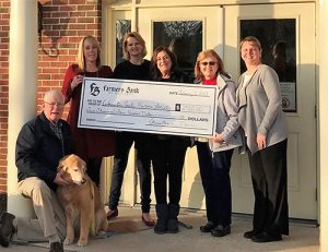 Farmers Bank Of Willards Presents Worcester County Humane Society With $2,500 Check