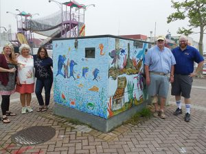 Art League Of Ocean City Completes Painting Latest Utility Box