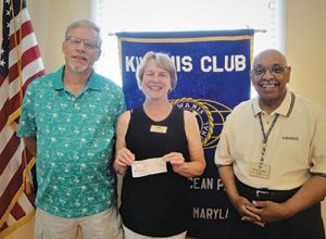 Kiwanis Club Of Greater Ocean Pines-Ocean City Presents Donation To Worcester County GOLD