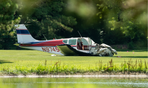 Golfer Rushed To Help Occupants Escape Burning Plane