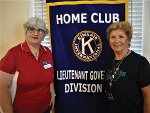Incumbent Kiwanis Club District 5 Lt. Governor Carolyn Dryzga Welcomes 5 Lt. Governor-Elect Robin Marks