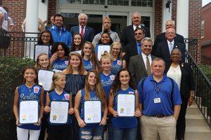 County Recognizes Softball Squad