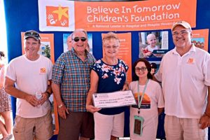 Local Couple Donates $5,000 To Believe In Tomorrow Children's Foundation