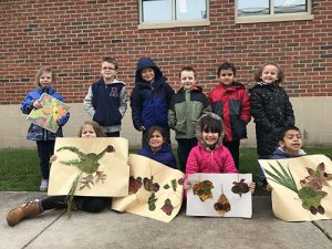 Ocean City Elementary School Kindergarten Class Reads Leaf Man
