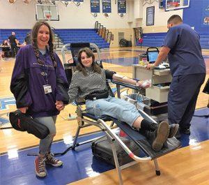 SD High School Hosts Bi-Annual Key Club Blood Drive
