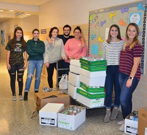 SD High School Collects Over 2,000 Pounds Of Canned Goods During Annual Food Drive
