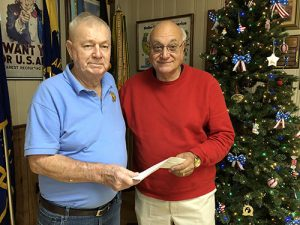 American Legion Donates $1,000 Check To Light Up OC Program