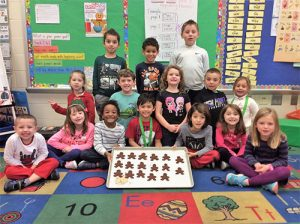 OC Elementary Kindergarten Students Create Gingerbread Men