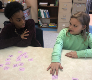 Fourth Graders At Berlin Intermediate School Work On Vowel Sounds
