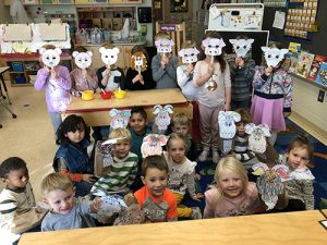 Pre-K Students At OC Elementary School Work On Retelling Stories