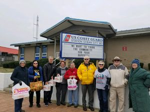 Democratic Women's Club And Indivisible Worcester Deliver Coffee And Donuts To U.S. Coast Guard