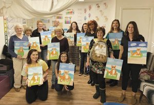 Paint Pip The Beach Cat Night Held At Little Dreamers Wellness Center