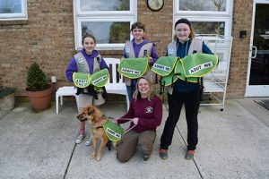 Girl Scout Cadettes Work On Silver Award With Worcester County Humane Society