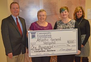 Community Foundation Of Eastern Shore Awards AGH $1,000 Mini-Grant