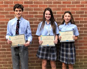 Seventh Grader Lexi Berrie Wins First Place In Annual Worcester Prep Geography Bee