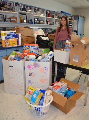 Believe In Tomorrow Receives Donations From SD High School Senior Connections And National Honor Society