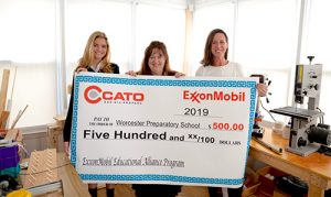 Cato Inc. Presents Worcester Prep Upper School With $500 ExxonMobil Educational Alliance Program Grant