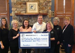 OC Marlin Club Crew Donates $1,000 To Worcester County Recreation And Parks Department