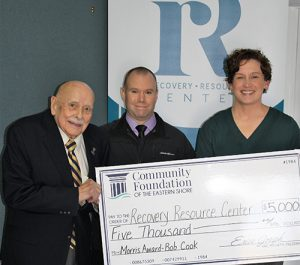 Recovery Resource Center Receives $5,000 Gift From Col. Bob Cook