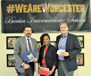 Berlin Intermediate School Receives Donation Of School Supplies From Worcester Youth & Family Counseling Services