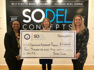 SoDel Cares Donates $4,000 To Delaware Adolescent Program Inc.